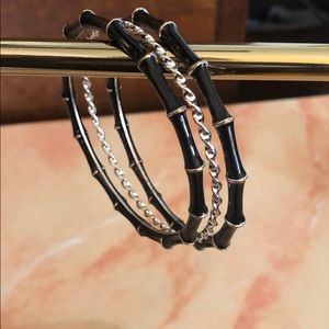 Jewelry - Black and Silver Bangle Set